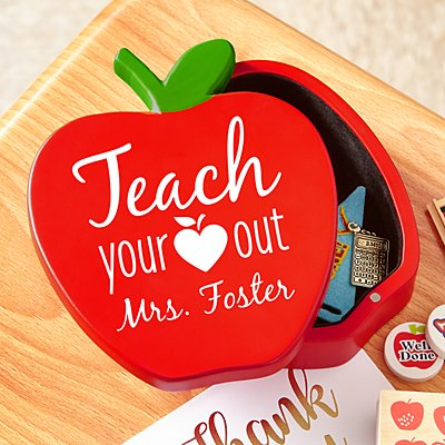 Teach Your Heart Out  Wood Keepsake Box
