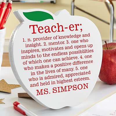 Teacher Definition Mini Wood Apple