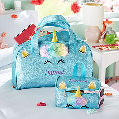 Unicorn Sparkle Duffle and Toiletry Bag