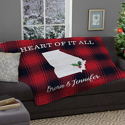 Buffalo Plaid State Plush Blanket