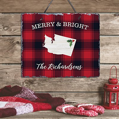 Buffalo Plaid State Slate