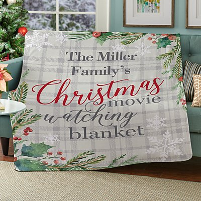 Christmas Movie Watching Plush Blanket