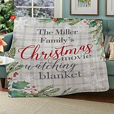 Christmas Movie Watching Plush Blanket