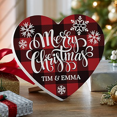 Cozy Christmas Mini Wood Heart