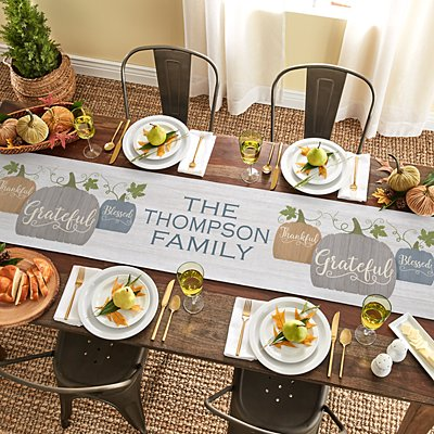 Farmhouse Pumpkins Table Runner