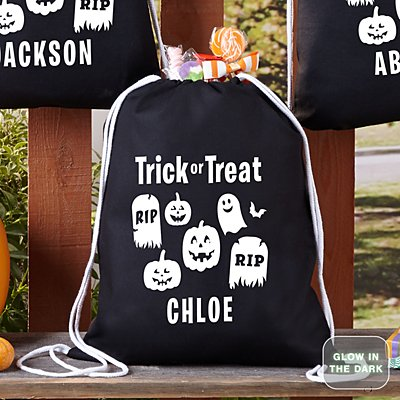 Glow In The Dark Graveyard Treat Bag