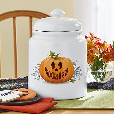 Jack-O-Lantern Treat Jar