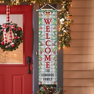Holiday Welcome Door Banner