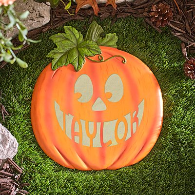 Jack-o-Lantern Glow In The Dark Stepping Stone