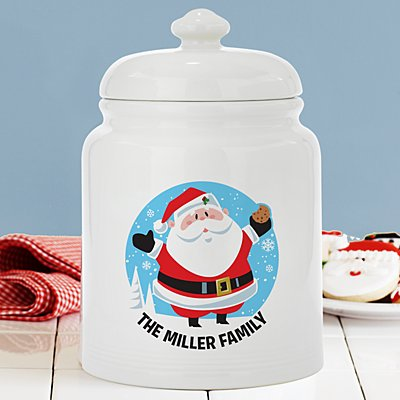 Jolly Father Christmas Cookie Jar