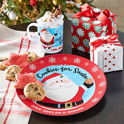 Jolly Santa Cookies and Milk Tableware