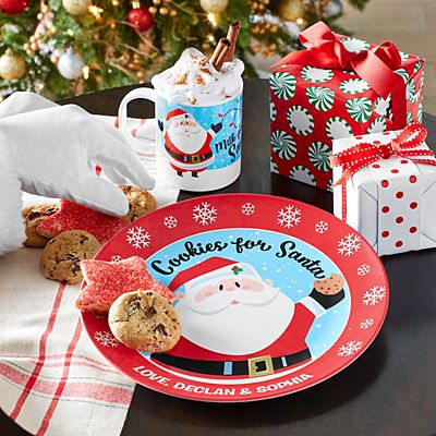 Jolly Santa Cookies and Milk Set