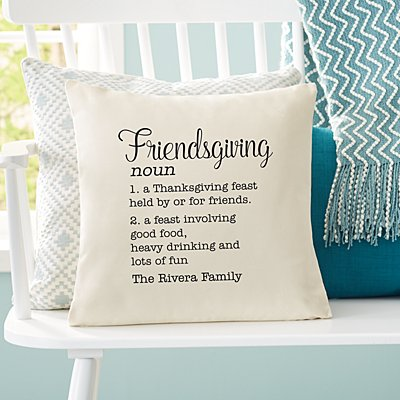 Meaning Of Friendsgiving Throw Pillow