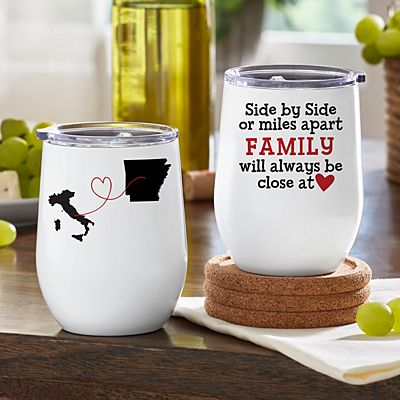 Miles Apart, Close At Heart Insulated Wine Tumbler