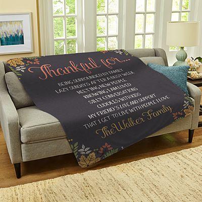Thankful For Everything Plush Blanket