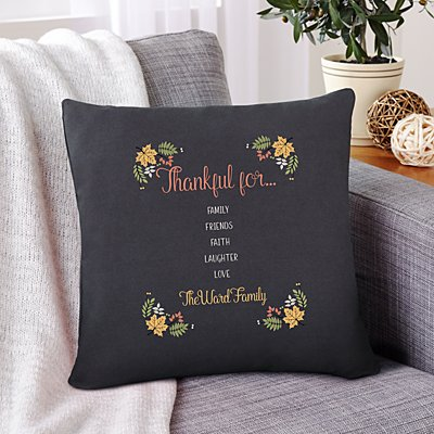 Thankful For Everything Throw Pillow