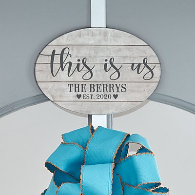 This is Us Wreath Holder with Plaque
