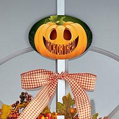 Jack-o-Lantern Wreath Holder with Plaque
