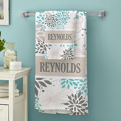 Allover Floral Family Bath Towels