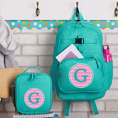 Allover Name Aqua Backpack Collection
