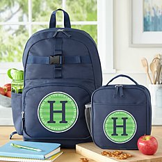 Allover Name Navy Backpack Collection