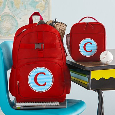 Allover Name Red Backpack Collection