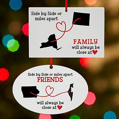 Miles Apart, Close at Heart Ornament
