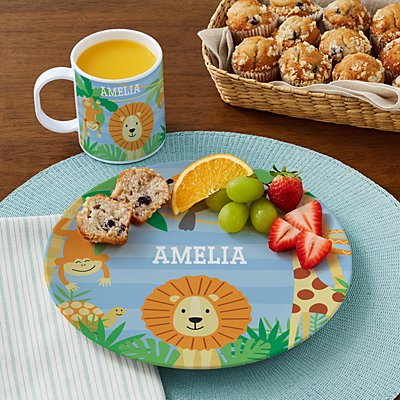 Jungle Baby Personalized Tableware
