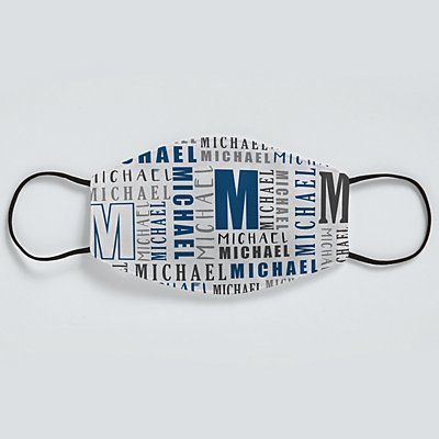 Name Game Face Mask - Navy