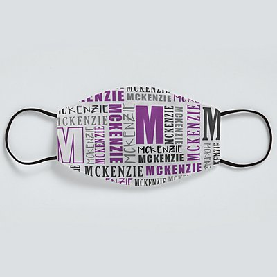 Name Game Face Mask - Purple