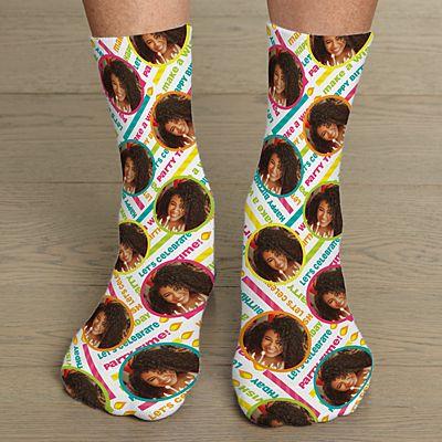 Allover Print Birthday Photo Socks