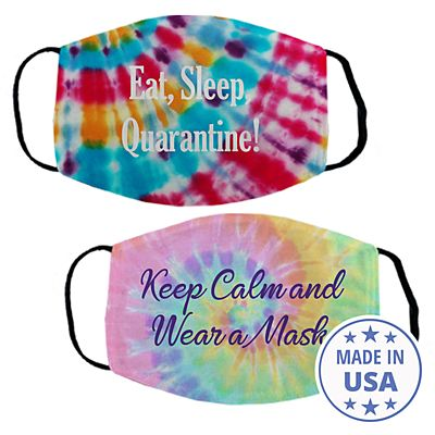 Sophisticated Print Face Mask - Tie Dye
