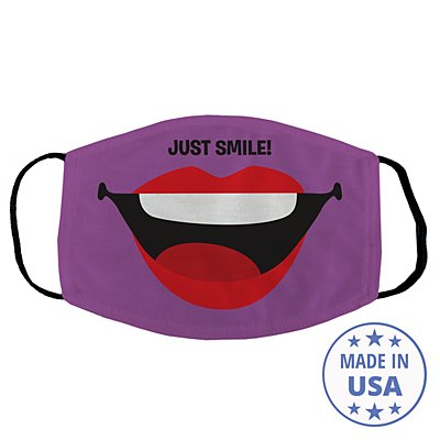 Create Your Own Funny Face Face Mask - Purple