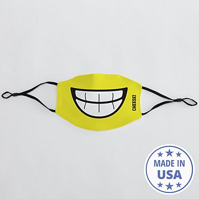 Create Your Own Funny Face Adult Face Mask - Yellow