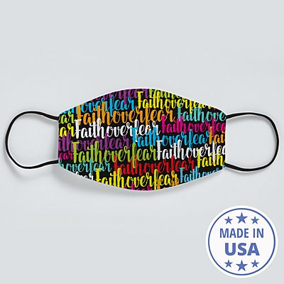 Scripty Name Face Mask - Black - Message