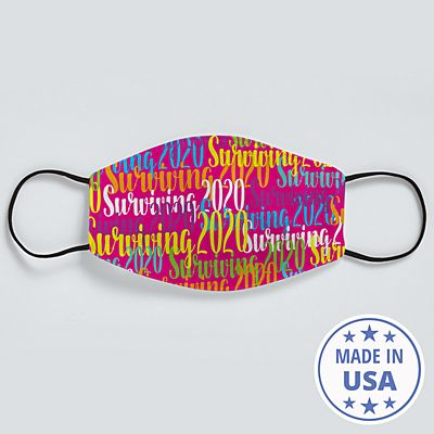 Scripty Name Face Mask - Pink - Message