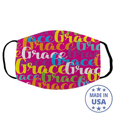 Scripty Name Face Mask - Pink - Name