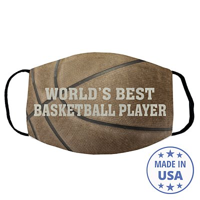 Sports Galore Face Mask - Basketball - Block