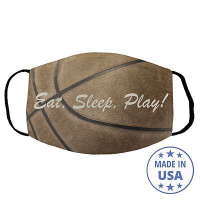 Sports Galore Face Mask - Basketball - Script