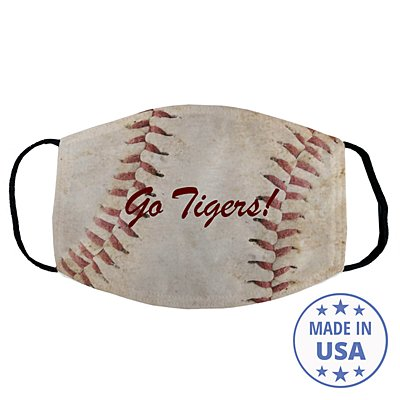 Sports Galore Face Mask - Baseball - Script