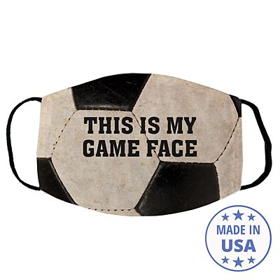 Sports Galore Face Mask - Soccer - Block