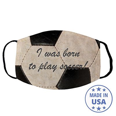 Sports Galore Face Mask - Soccer - Script