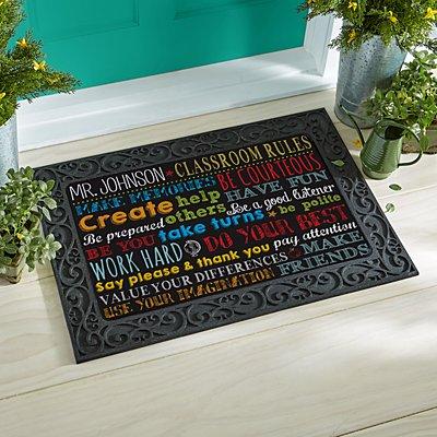Classroom Rules Doormat