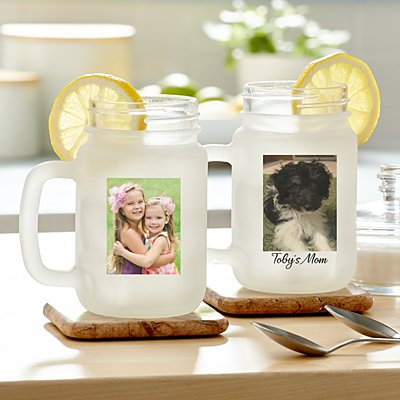 Picture Perfect Photo Frosted Mason Jar