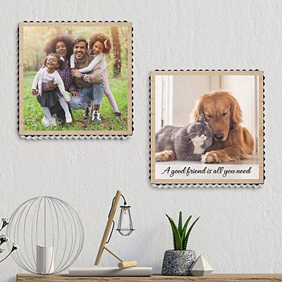 Picture Perfect Photo Metal Edge Wood Wall Art