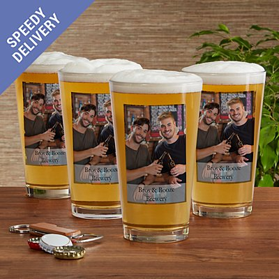 Picture Perfect Photo Pint Beer Glass