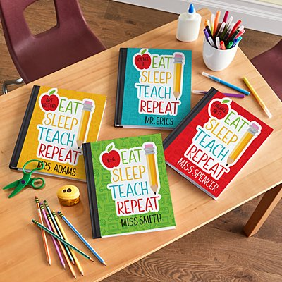 Eat, Sleep, Teach Notebook