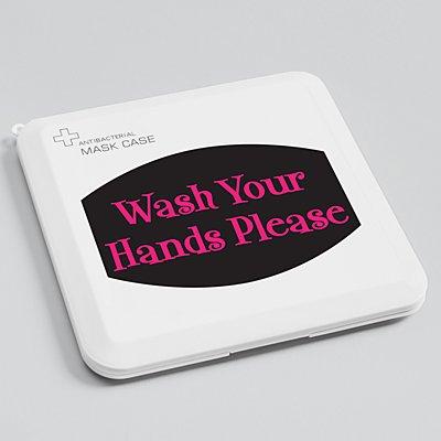 Create Your Own Antibacterial Face Mask Case - Black - Pink Fun Serif