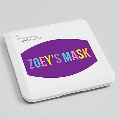 Create Your Own Antibacterial Face Mask Case - Purple -Pink- Block