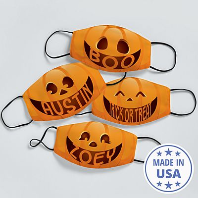 Create Your Own Jack-o-Lantern Kids Face Mask